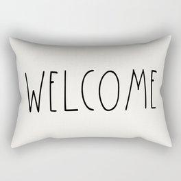 WELCOME greeting saying Typography Rectangular Pillow