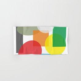 Tech geometric colorful Background #society6 #decor #buyart #artprint Hand & Bath Towel