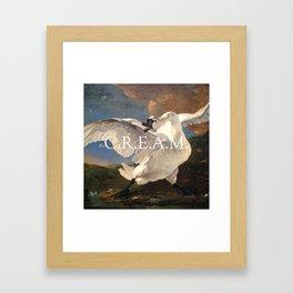 C.R.E.AM. Framed Art Print
