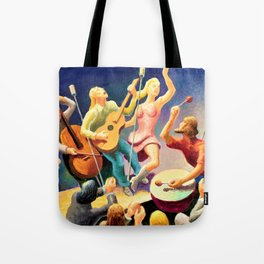 Classical Masterpiece 'Youth Music' by Thomas Hart Benton Tote Bag