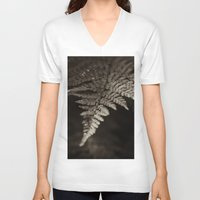 fern V-neck T-shirts featuring Fern by Olivia Joy StClaire