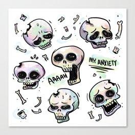 Anxiety Skulls Canvas Print