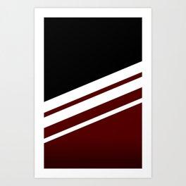 Black Striped Cherry Art Print