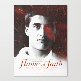 "Frassati ""Flame of Faith"" Canvas Print"