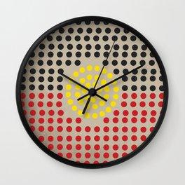 Aboriginal flag Wall Clock