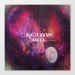 Creative Soul Moon Canvas Print