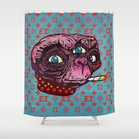 et Shower Curtains featuring ET Mofo by Beery Method
