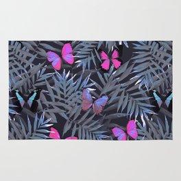 Butterflies Night Dance Rug