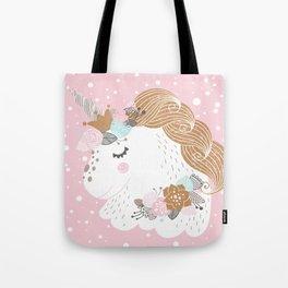 I Love Unicorns ink Unicorn Head Baby's Nursery nd Girls Room Decor Tote Bag