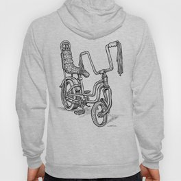'Slicks R 4 Chicks' - Girls Mod Stingray Muscle Bike Cartoon Retro Bicycle Hoody