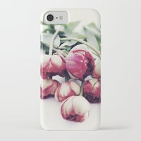 tulips iPhone & iPod Cases featuring Tulips by Sirka H.