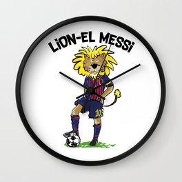 lion-el messi Wall Clock