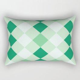 Shamrock Green Diagonal Plaid Pattern Rectangular Pillow