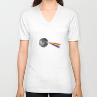 dark side of the moon V-neck T-shirts featuring The Dark Side of the Moon by Zach Terrell