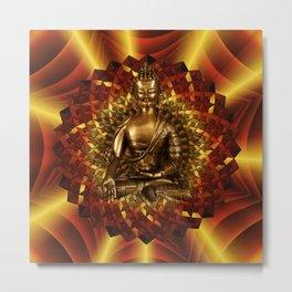 Medizinbuddha und 1000 blättriger Lotus Metal Print