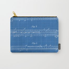 Engineering Patent - Engineers Slide Rule Art - Blueprint Carry-All Pouch