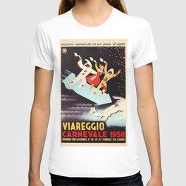 Vintage Viareggio carnival Italian travel ad  T-shirt