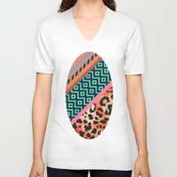 safari V-neck T-shirts featuring Wild Safari by Girly Trend