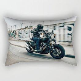 Street Rider - Fine Art Print Rectangular Pillow