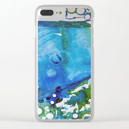 Ice Caps, Ice Bubbles, Environment Clear iPhone Case