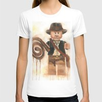 indiana jones T-shirts featuring Indiana Jones Lego by Toys 'R' Art