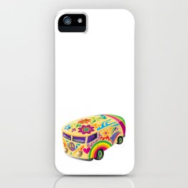 Retro Psychedelic Peace Vehicle iPhone Case