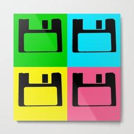 Floppy Disk Pop Art Number 1 Metal Print