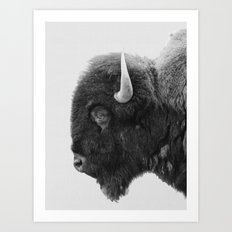 buffalo profile Art Print