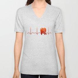 DENTIST HEARTBEAT Unisex V-Neck