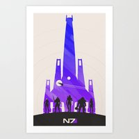 mass effect Art Prints featuring Mass Effect by Noble-6