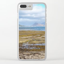 View over an Icelandic Fjord Clear iPhone Case