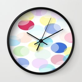 Oval pastel bubbles 2. Wall Clock