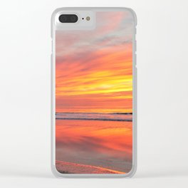 Painted Sky Clear iPhone Case