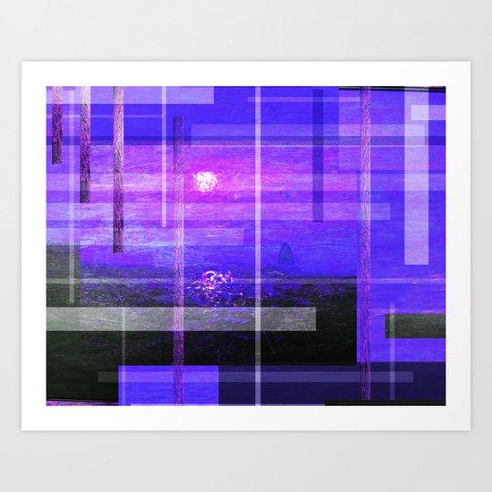 Caribbean Moonlight  Art Print