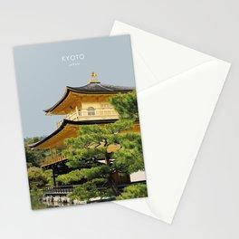 Kyoto Kinkaku-ji Temple Japan Artwork Stationery Cards