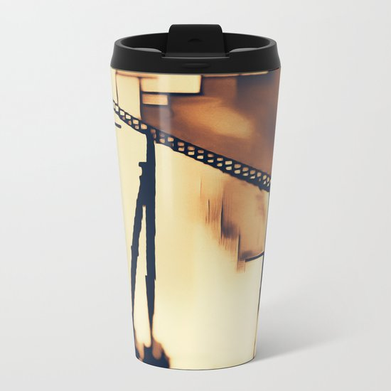 Roller Coaster Metal Travel Mug