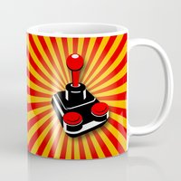 gaming Mugs featuring Retro Gaming by MaNia Creations