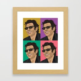 Jeff Goldblum Pop Art Framed Art Print