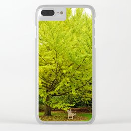 Park Bench Clear iPhone Case