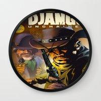 django Wall Clocks featuring Django by Don Kuing