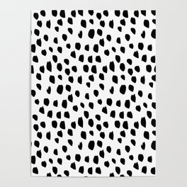 Hand drawn drops and dots on white - Mix & Match with Simplicty of life Poster