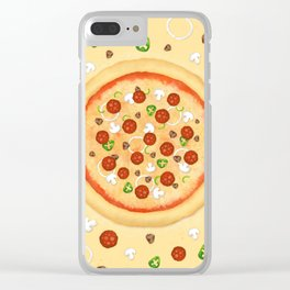 Just Pizza Clear iPhone Case