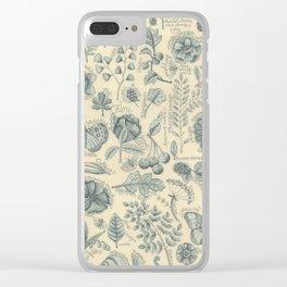 Garden Notes Clear iPhone Case