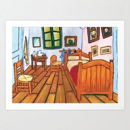 My Room - Reinterpretation of La chambre de Van Gogh - Kids art, Print, Illustration Art Print