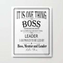 Boss Art Metal Print