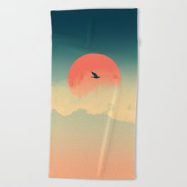 Lonesome Traveler Beach Towel