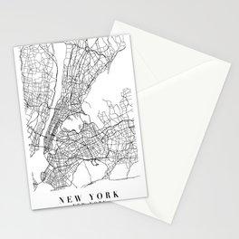 New York New York Street Map Minimal Stationery Cards