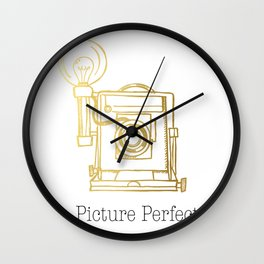 Gold Vintage Camera Picture Perfect  Wall Clock