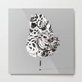 Fantasy Tree in black and white Metal Print