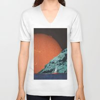 sailing V-neck T-shirts featuring Sailing by Djuno Tomsni